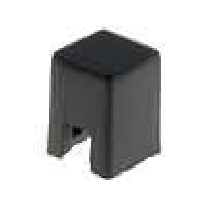 Hmatník čtvercový černá 4x4x5,5mm