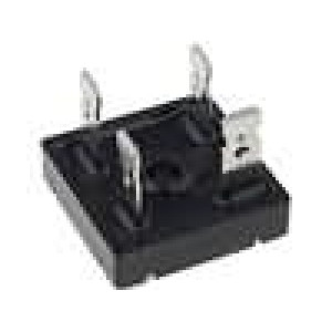 Usměrňovací můstek čtvercový 600V 15A konektory 6,3x0,8mm