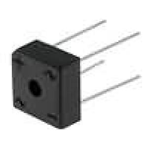 Usměrňovací můstek čtvercový 1kV 25A drát Ø1,2mm