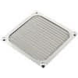 Mřížka, se stíněním EMI 92x92mm kov upevnění šroubem A:92mm