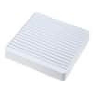 Mřížka s filtrem 120x120mm Mat plast upevnění šroubem