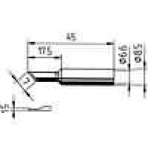 Hrot nůž 1,5mm pro páječku ERSA-RT80,pro stanici ERSA-RDS80