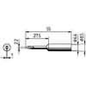 Hrot plochý prodloužený 2,2mm