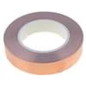 Knot: stínicí Mat: měď 25mm L:33m hladký Shoda s: UL 510