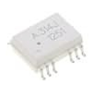 HCPL-314J-000E Optočlen SMD 2 kanály Výst budič IGBT 25kV/μs 5kV SO16