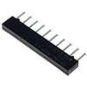 Rezistorová síť Y 10kΩ Poč.rezistorů:5 THT 1250mW ±2% 100V