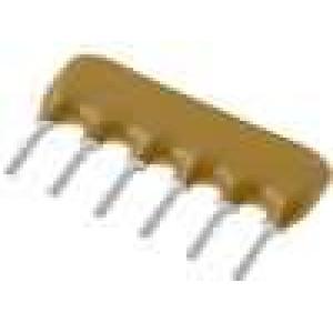 Rezistorová síť X 6,8kΩ Poč.rezistorů:5 THT 200mW ±2% 100V