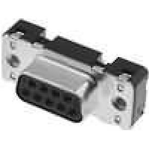 Zásuvka D-Sub 9 PIN zásuvka zajištění šroubky přímý THT