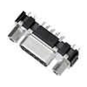 Zásuvka D-Sub 9 PIN zásuvka zajištění šroubky přímý THT M3