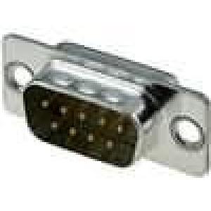 Zástrčka D-Sub 9 PIN vidlice točené kontakty pájení