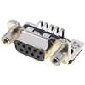 Zásuvka D-Sub 9 PIN zásuvka západka PCB úhlové 90° THT