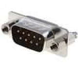 Zásuvka D-Sub 9 PIN vidlice západka PCB přímý THT UNC4-40