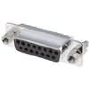 Zásuvka D-Sub HD 20 15 PIN zásuvka přímý THT UNC4-40 zlacený