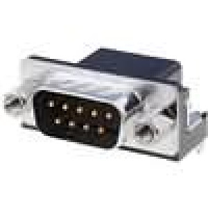 Zásuvka D-Sub HD 20 9 PIN vidlice úhlové 90° THT UNC4-40