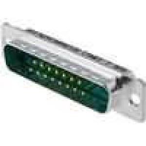 Zástrčka speciální D-Sub PIN:17(2+15) vidlice pájení 5A 250V