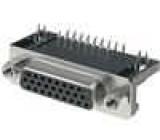 Zásuvka D-Sub HD 26 PIN zásuvka zajištění šroubky úhlové 90°