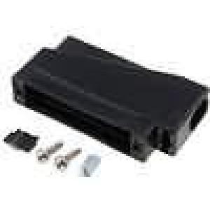 Kryt pro konektory D-Sub HD 44pin, D-sub 25pin černá