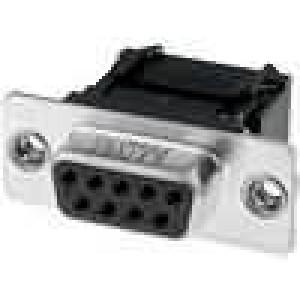 D-Sub 9 PIN zásuvka IDC, krimpovací na plochý kabel M3 250V