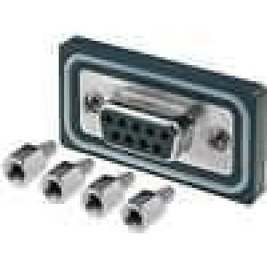 Zásuvka D-Sub ED-EHD 9 PIN zásuvka zajištění šroubky přímý
