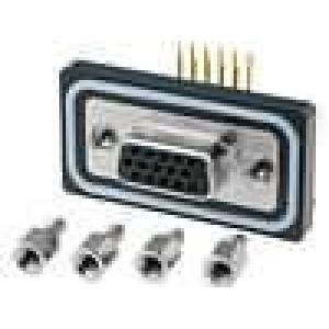 Zásuvka D-Sub HD ED-EHD 15 PIN zásuvka zajištění šroubky