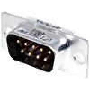 Zástrčka D-Sub 9 PIN vidlice pájení na kabel gold flash 250V