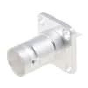 Zásuvka BNC zásuvka přímý 50Ω pájení teflon stříbřený