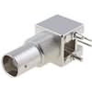Zásuvka BNC zásuvka úhlové 90° 75Ω THT polyetylén zlacený
