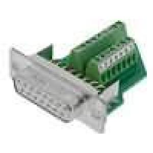 Zástrčka D-Sub Variosub PIN:15 zásuvka šroubová svorka 5A
