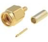 Zástrčka SMA vidlice přímý 50Ω pájení, krimpovací na kabel