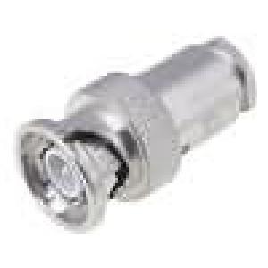 Zástrčka BNC vidlice přímý 50Ω RG58 šroubovací (clamp) noryl
