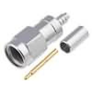 Zástrčka SMA vidlice přímý 50Ω RG316 krimpovací na kabel