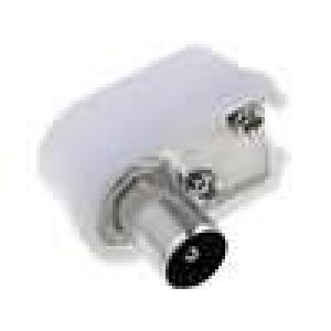 Zástrčka koaxiální 9,5mm (IEC 169-2) vidlice úhlové 90°