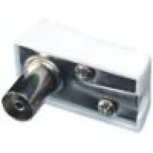 Zástrčka koaxiální 9,5mm (IEC 169-2) zásuvka úhlové 90°
