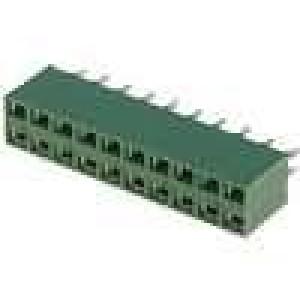 Zásuvka kolíkové HV-100 zásuvka PIN:20 přímý 2,54mm THT 2x10
