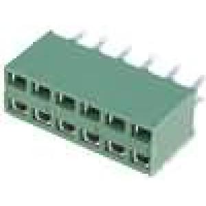 Zásuvka kolíkové HV-100 zásuvka PIN:12 přímý 2,54mm THT 2x6