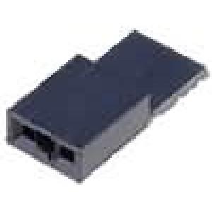 Propojka kolíkové zásuvka PIN:2 otevřené, s držákem 2,54mm