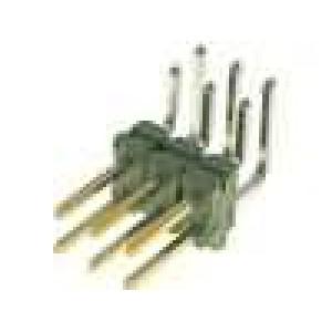 Zásuvka kolíkové AMPMODU vidlice PIN:6 přímý 2,54mm THT 2x3