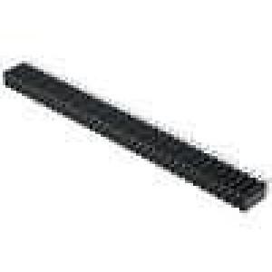 Zásuvka kolíkové zásuvka PIN:72 přímý 2,54mm THT 2x36 H:8mm