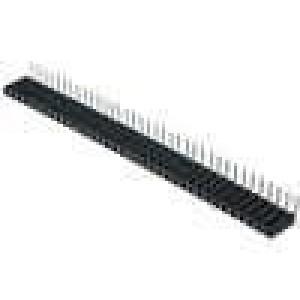 Zásuvka kolíkové zásuvka PIN:36 úhlové 90° 2,54mm THT 1x36