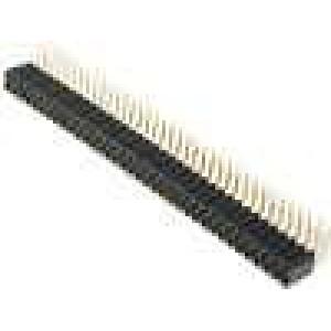 Zásuvka kolíkové zásuvka PIN:72 úhlové 90° 2,54mm THT 2x36