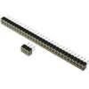 Zásuvka kolíkové zásuvka 14PIN točené kontakty přímý 2,54mm