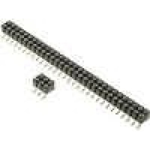 Zásuvka kolíkové zásuvka PIN:80 točené kontakty svislý SMT