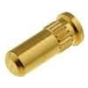 Zásuvka kolíkové zásuvka PIN:1 přímý press-in 1x1 zlacený