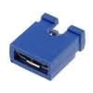 Propojka kolíkové zásuvka otevřené 2,54mm 1x2 modrá