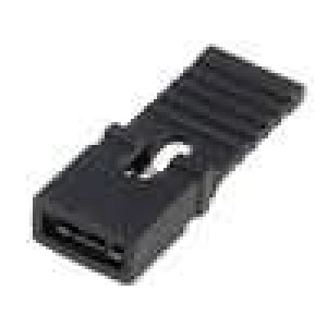 Propojka kolíkové zásuvka s držákem 2,54mm 1x2 černá