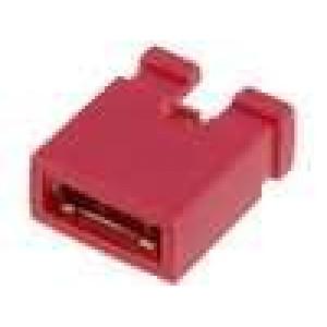 Propojka kolíkové zásuvka otevřené 2,54mm 1x2 červená