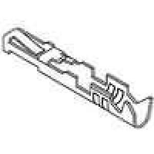 Kontakt zásuvka 22-24AWG C-Grid III zlacený krimpovací volně