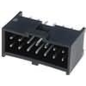 Zásuvka kolíkové C-Grid III vidlice 14PIN přímý 2,54mm THT