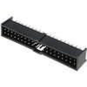 Zásuvka kolíkové C-Grid III vidlice PIN:40 přímý 2,54mm THT