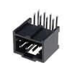 Zásuvka kolíkové C-Grid III vidlice 8 PIN úhlové 90° 2,54mm